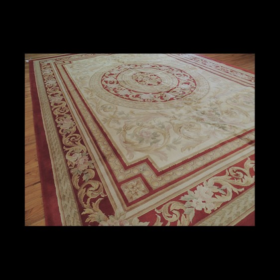 Brilliant French Savonnerie Oriental Area Rug 10 x 14