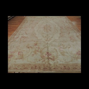 Beautiful Soft French Savonnerie Oriental Area Rug(Antique look) 10 x 14