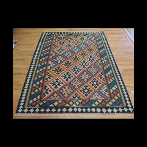 Colorful Persian Kilim Wool Area Rug 5 x 7