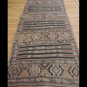 Wonderful Persian Kilim Reversible Wool Runner Rug 5 x 10