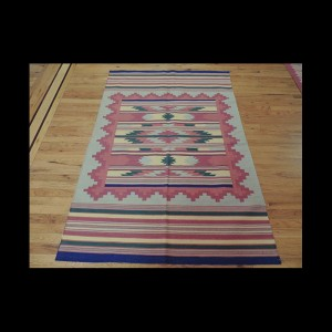 Colorful Kilim Reversible Cotton Area Rug 4 x 6