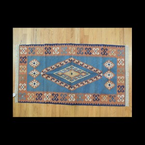 Colorful Turkish Kilim Reversible Wool Area Rug 2 x 4