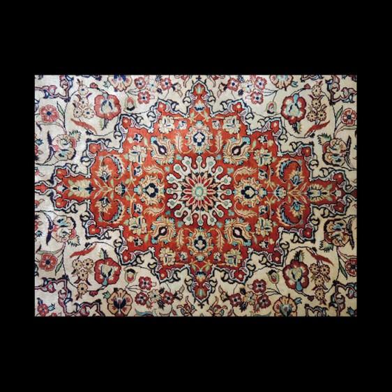 Superb Antique Signed Persian Qum Silk Rug 3 x 5