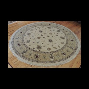 Beautiful Peshawar Oriental Round Area Rug 6 x 6