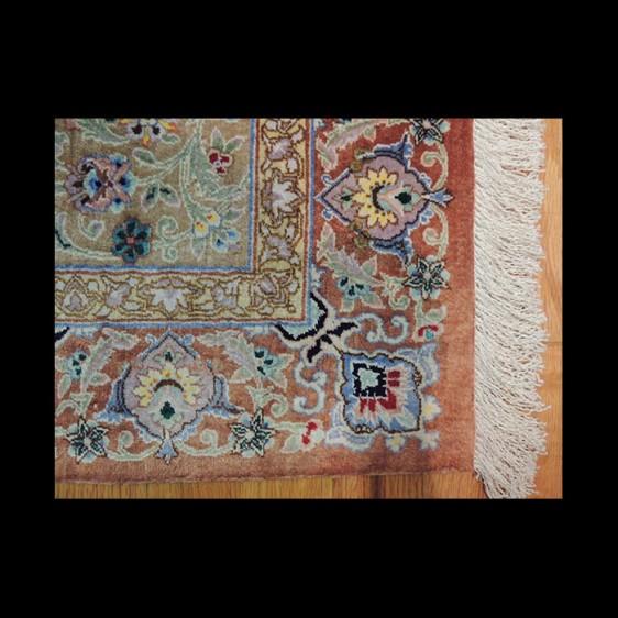 Splendid Semi-Antique Signed Persian Qum Rug 2 x 4