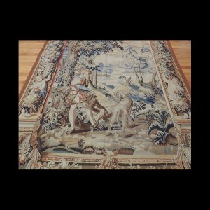 Placeholder Outstanding French Hunting Tapestry scene 5 x 7