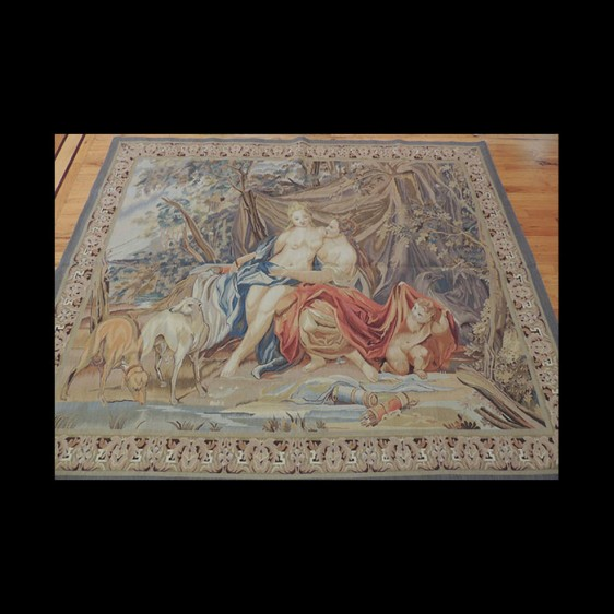 Spectacular serene Romantic French Tapestry 5 x 7