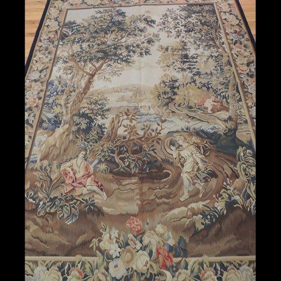 Magnificent French design Hunting Scene Tapestry 5 x 7