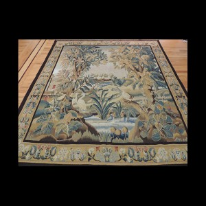 Dazzling French design Tapestry of exotic birds in the garden 6 x 9