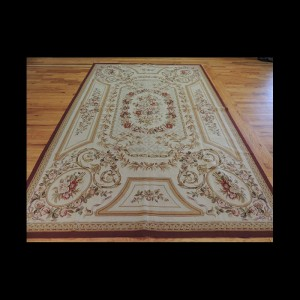 Beautiful French Needlepoint Design Oriental Area Rug 6 x 9