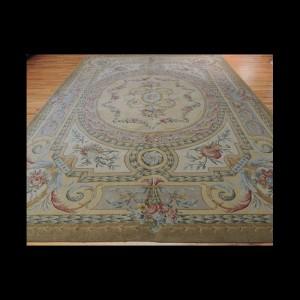 Brilliant French Savonnerie Design Oriental Rug 9 x 12