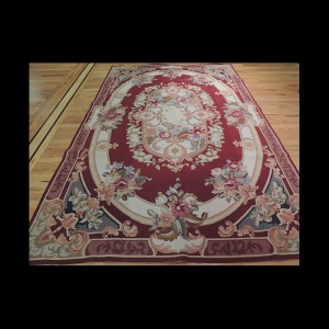 French Aubusson Needlepoint Oriental Area Rug 6 x 9