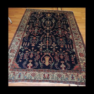 Beautiful Antique Persian Qum Rug 5 x 7