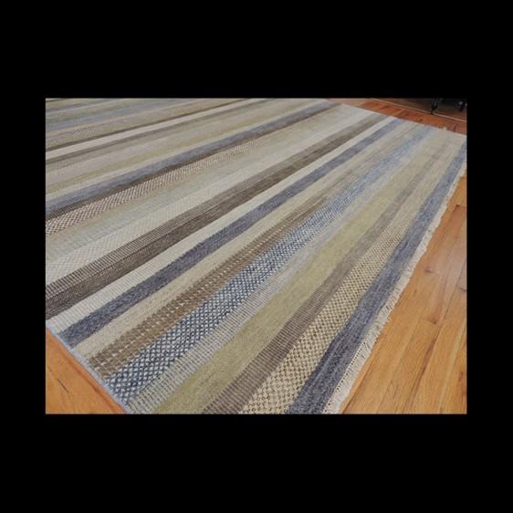avannah Stripe 9 x 12 Modern Oriental Area Rug