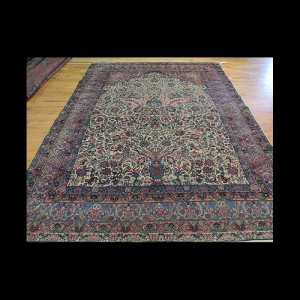 RARE unique Antique Persian Lavar Kerman wool Oriental Area Rug 9x12