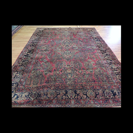 Outstanding Antique Persian Sarough wool Oriental Area Rug 9x12
