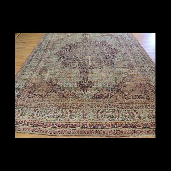 Antique Persian Lavar Kerman wool Oriental Area Rug 9x12