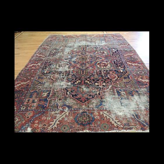 Antique Persian Serapi wool Oriental Area Rug 9x12