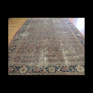 Antique Persian Mahal wool Oriental Area Rug 9x12