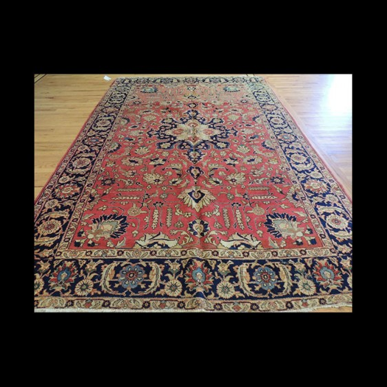 Rare size Antique Persian Mahal wool Oriental Area Rug 8x10