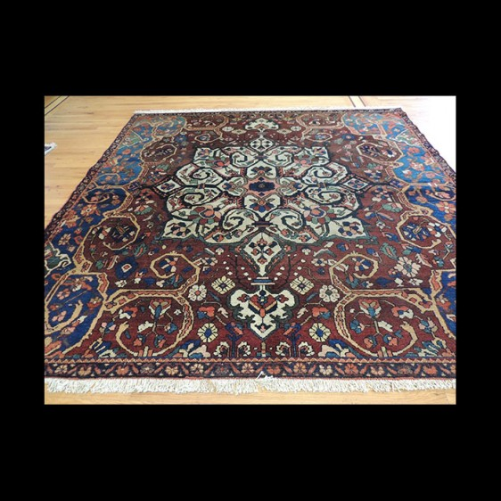 Striking Rare size Antique Persian Square Serapi wool Oriental Area Rug 8x8